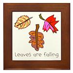Kid Art Leaves Framed Tile