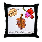 Kid Art Leaves Throw Pillow