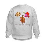 Kid Art Leaves Kids Sweatshirt