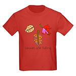 Kid Art Leaves Kids Dark T-Shirt