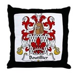 Boutillier Family Crest Throw Pillow