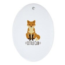 Little Cub Ornament (Oval)