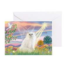 Cloud Angel White Persian Greeting Card