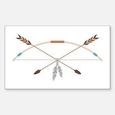 Native American Archery Bow Arrows Decal