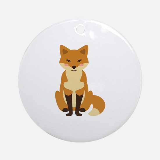 Cute Fox Ornament (Round)