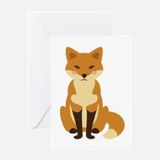 Cute Fox Greeting Cards