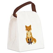 Cute Fox Canvas Lunch Bag