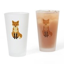 Cute Fox Drinking Glass