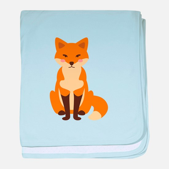 Cute Fox baby blanket