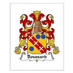 Boussard Family Crest Small Poster
