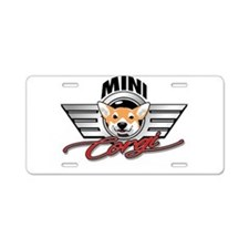 Mini Corgi Club Aluminum License Plate