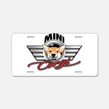 Mini Corgi Club Aluminum License Plate