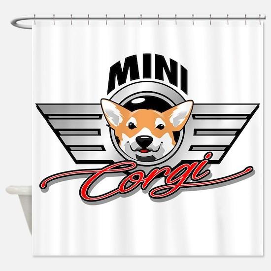Mini Corgi Club Shower Curtain