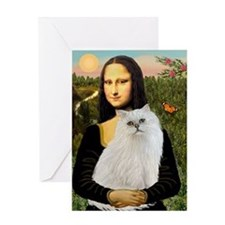 Mona's White Persian Greeting Card