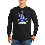 Bourguignon Family Crest Long Sleeve Dark T-Shirt