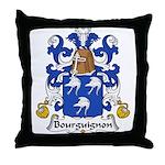 Bourguignon Family Crest Throw Pillow
