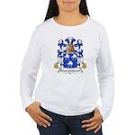 Bourguignon Family Crest Women's Long Sleeve T-Shi