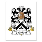Bourgoin Family Crest Small Poster