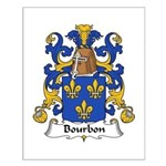 Bourbon Family Crest Small Poster