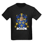 Bourbon Family Crest Kids Dark T-Shirt