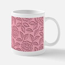Engraved Roses - Pastel Pink Mug