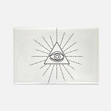 All Seeing Eye Of Providence Symbol Freemason Magn