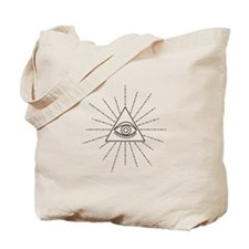 All Seeing Eye Of Providence Symbol Freemason Tote