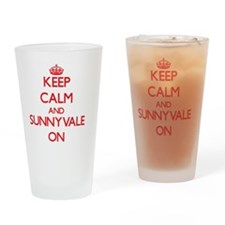 Keep Calm and Sunnyvale ON Drinking Glass