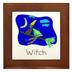 Kid Art Witch Framed Tile