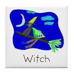 Kid Art Witch Tile Coaster