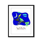 Kid Art Witch Framed Panel Print