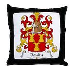 Boulin Family Crest Throw Pillow