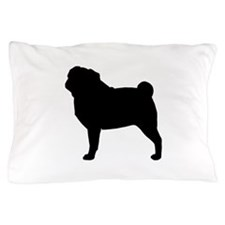 Pug Silhouette Pillow Case