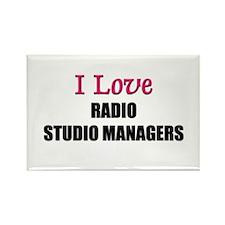 I Love RADIO STUDIO MANAGERS Rectangle Magnet