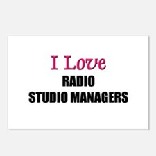 I Love RADIO STUDIO MANAGERS Postcards (Package of