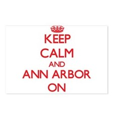 Keep Calm and Ann Arbor O Postcards (Package of 8)
