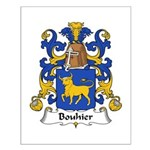 Bouhier Family Crest Small Poster