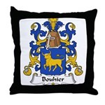 Bouhier Family Crest Throw Pillow
