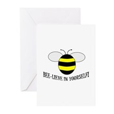 BEE-LIEVE IN YOURSELF! Greeting Cards (Pk of 20)