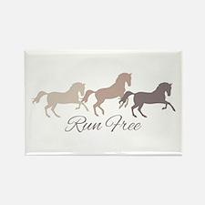 Wild Horses Running Free Magnets