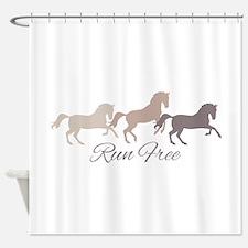 Wild Horses Running Free Shower Curtain