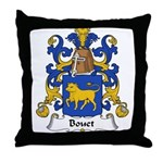 Bouet Family Crest Throw Pillow