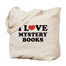I Love Mystery Books Tote Bag