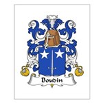 Boudin Family Crest Small Poster