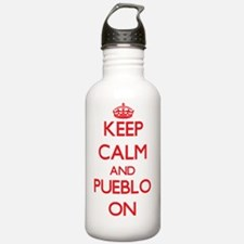 Keep Calm and Pueblo O Water Bottle