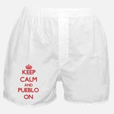 Keep Calm and Pueblo ON Boxer Shorts