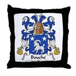 Bouche Family Crest Throw Pillow