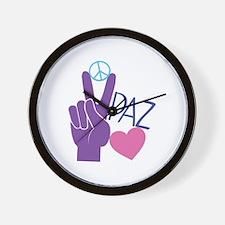 Peace Love Wall Clock