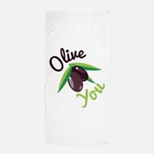 Olive You Beach Towel
