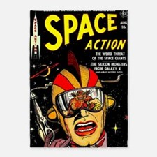 Vintage Space Action Comic Cover Sc 5'x7'Area Rug
